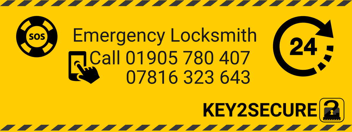 Call 01905 780 407 Key2Secure Locksmiths